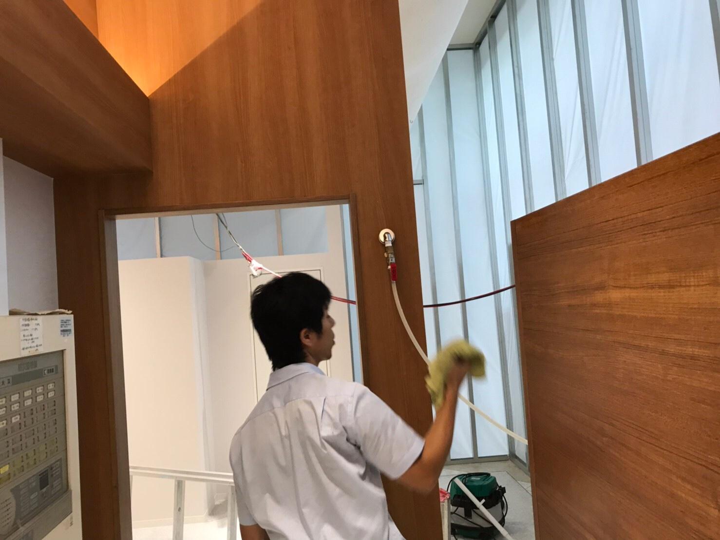 武雄スポーツ施設改装後清掃