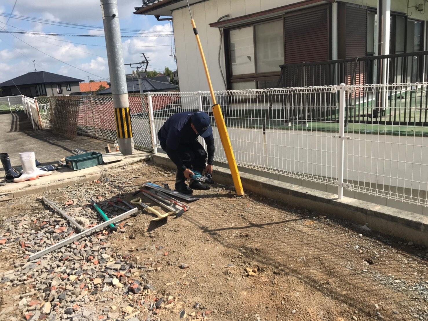 大牟田市駐車場生コン打設工事