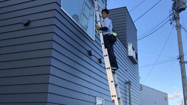 佐賀市病院ガラス清掃