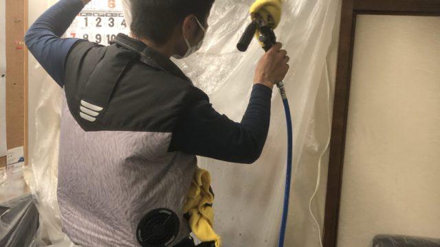 佐賀市富士町老舗旅館エアコン清掃