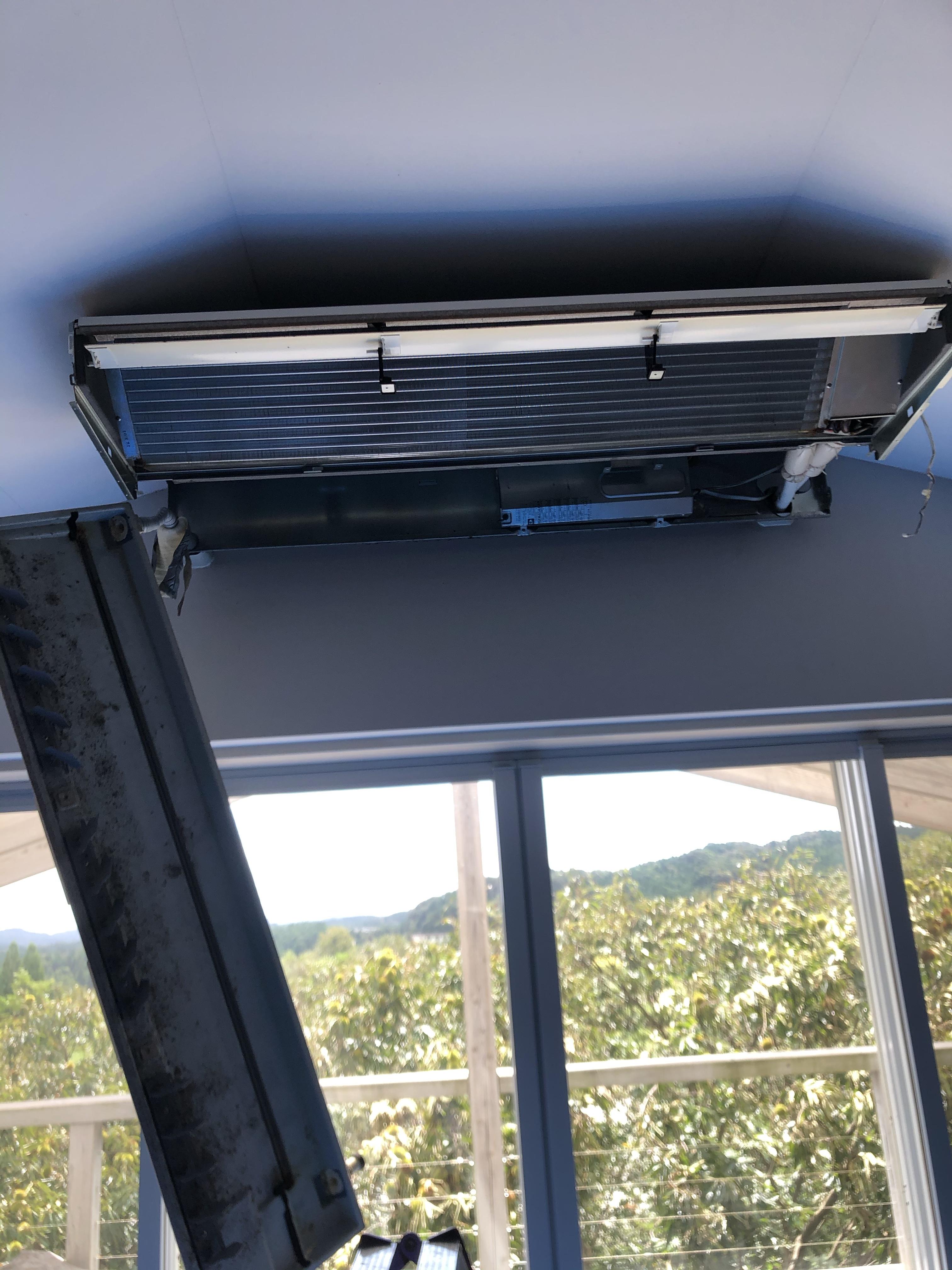 有田町業務用天吊りエアコン清掃