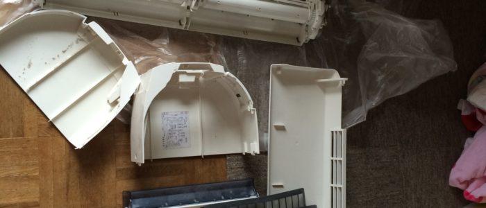 佐賀市大和町お掃除機能付きロボットエアコン分解洗浄